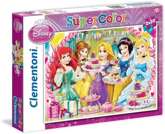 Puzzel 2x20 stukjes Princess
