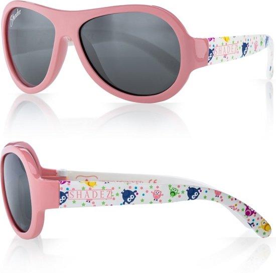 602d1273c5252a SHADEZ - Onbreekbare baby zonnebril - UV 400 Designer zonnebril baby peuter  – Owl Pink