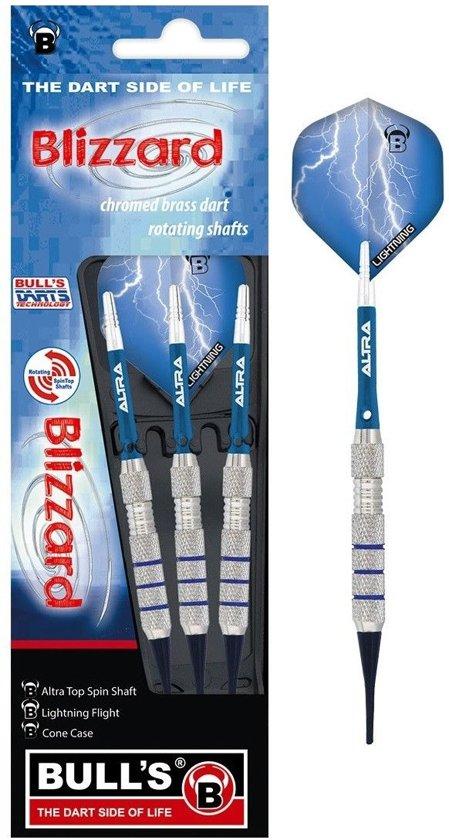 Bull´s Dartpijlen Blizzard Lightning Softtip Blauw Gewicht 18