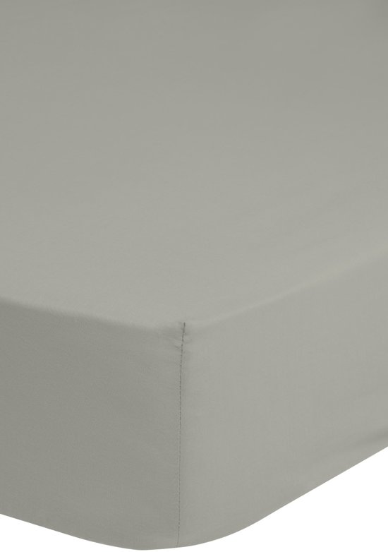 Hoogwaardige Katoenen Hoeslaken Licht Grijs - 180x220 - Fijn Geweven - Ademend En Comfortabel