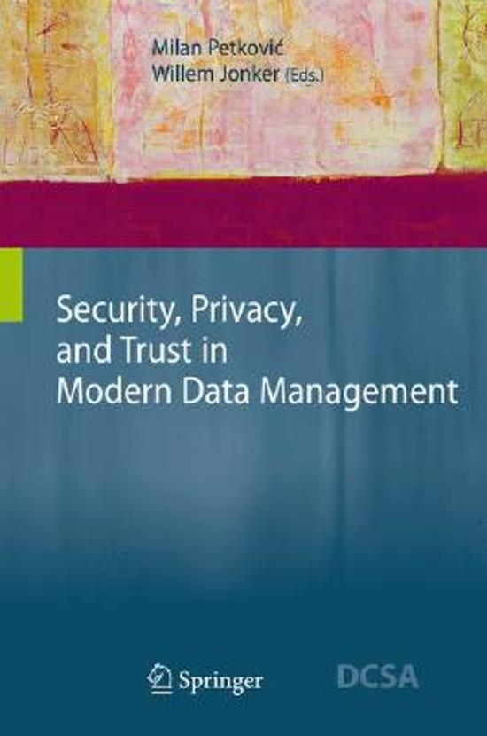Security, Privacy, and Trust in Modern Data Management
