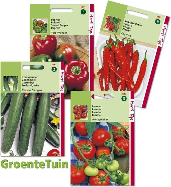 Hortitops GroenteTuin - 4  zakjes zaden