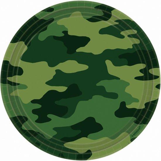 Camouflage print bordjes 8 stuks