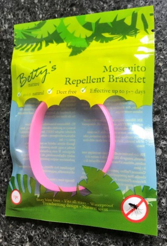 Anti-muggen armband Roze