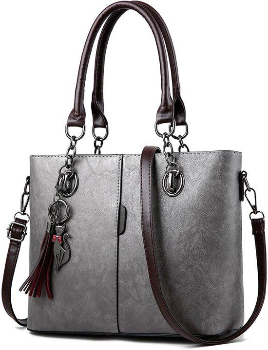 Handtas Schoudertas Style Western Nubuck Grijs Bag Tas gUTU0qxwr