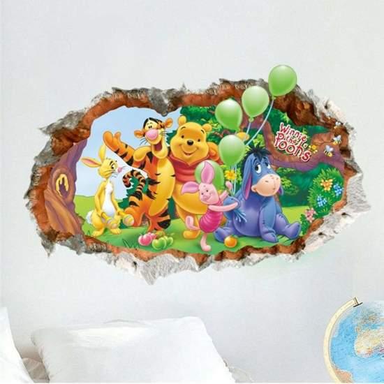 bol.com | Geschikt voor een Winnie de pooh slaapkamer muursticker ...