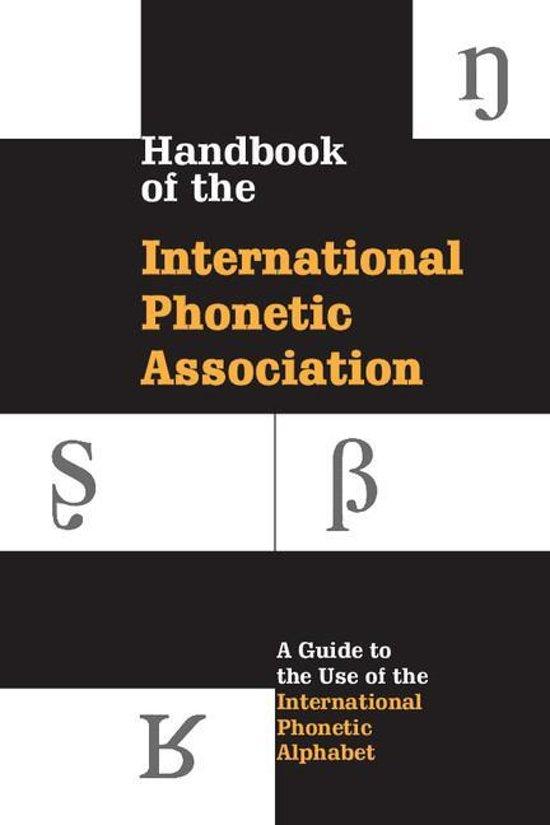 Bol Handbook Of The International Phonetic Association Ebook