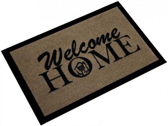 New bol.com   Deurmat welcome home 40x60cm Bruin Zwart Hanse Home FP82