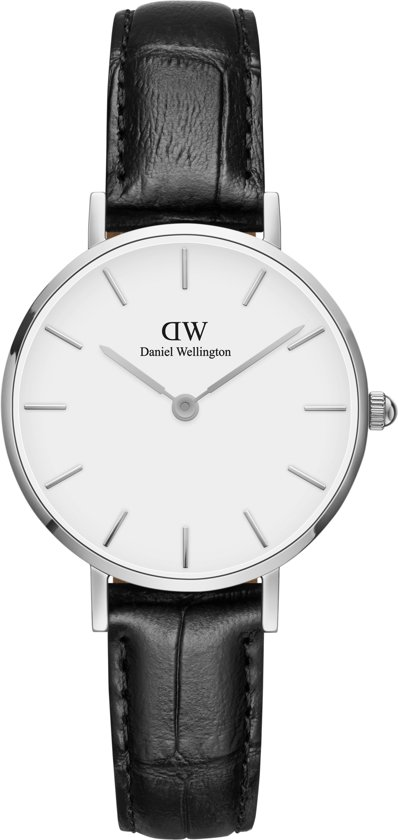 Daniel Wellington Classic Petite Reading DW001001241 - Horloge - Leer - Zwart - Ø 28mm