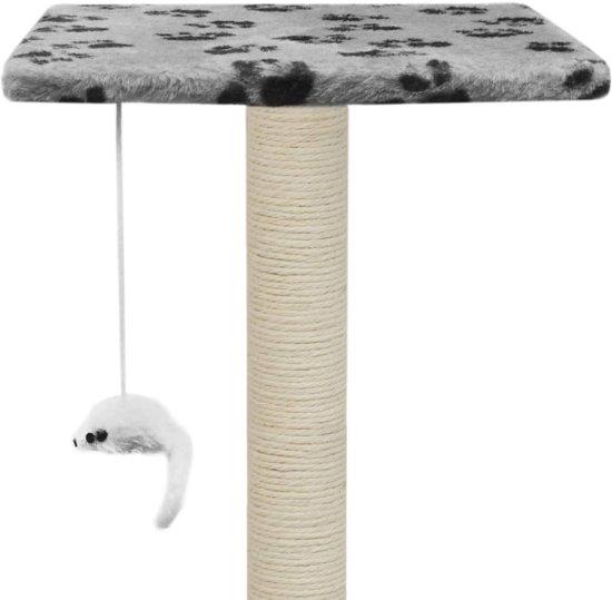 vidaXL Kattenkrabpaal met sisal krabpalen 95 cm pootafdrukken grijs