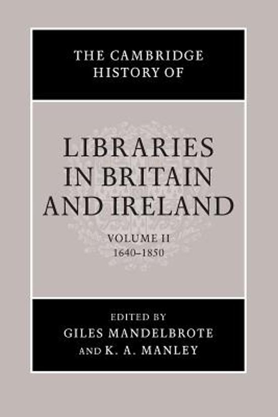 The Cambridge History of Libraries in Britain and Ireland 3 Volume Paperback Set