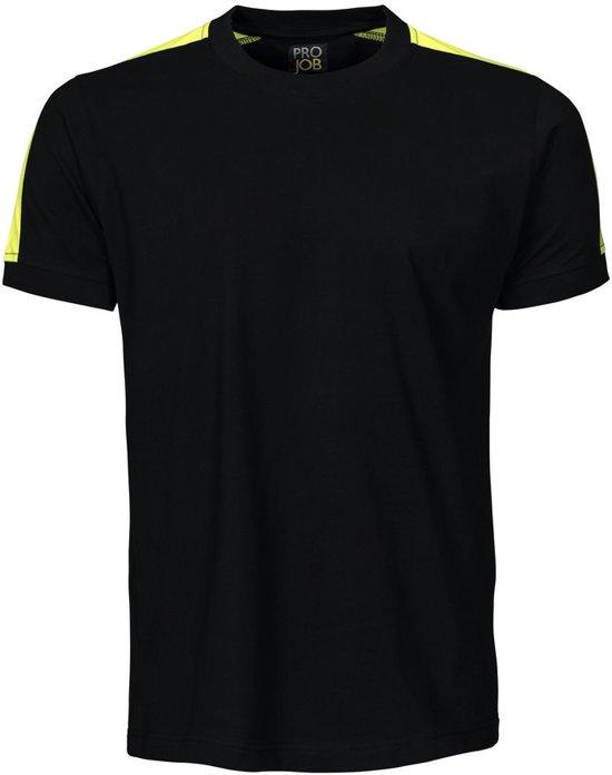 Projob 2019 T-shirt Zwart/Geel maat XXL
