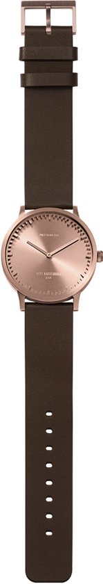 Tube watch T40 rose gold / brown leather strap