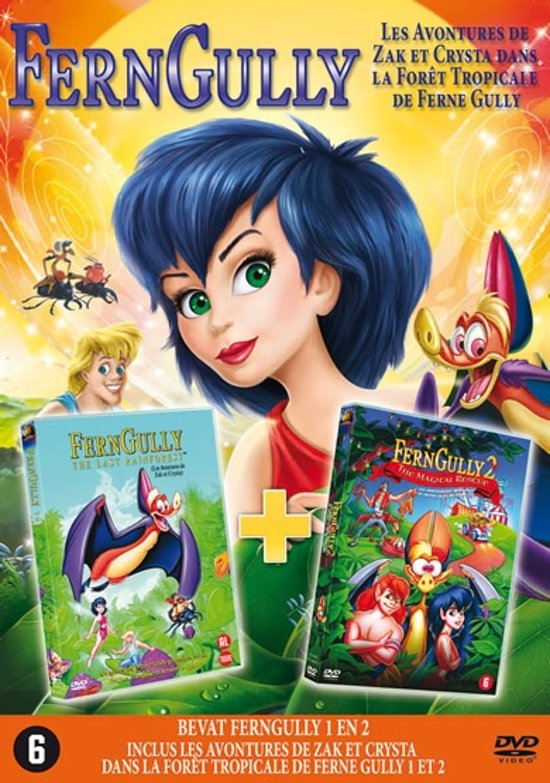 DVD cover van FernGully 1 & 2