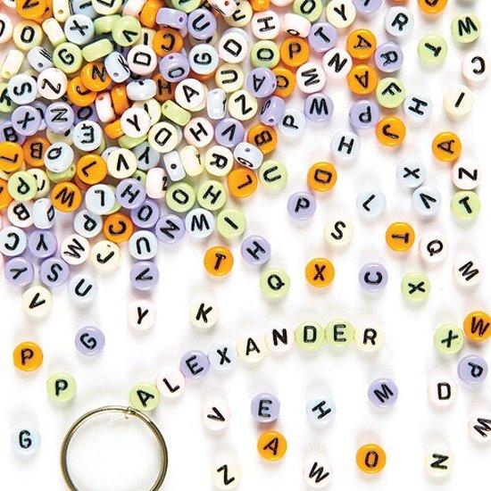 Gekleurd letter/alfabetkralen - creatieve knutselpakket/kralenset voor kinderen en volwassen voor armband en sieraden maken (400 stuks)