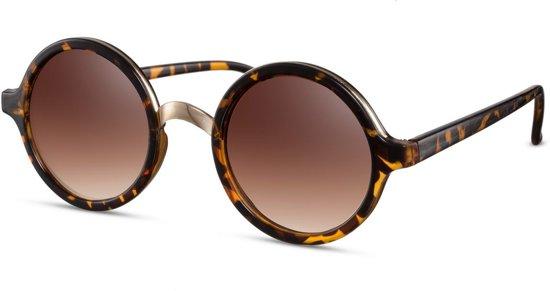 85d9a824ba286a Cheapass Zonnebrillen - Ronde zonnebril - Goedkope zonnebril - Bruin