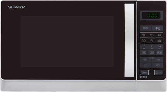 Sharp R-742(IN)W - Magnetron - Grill - vrijstaand - zilver