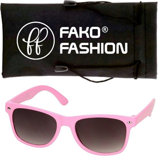 db99624a723444 Fako Bijoux® - Kinder Zonnebril - Duo - Roze Wit