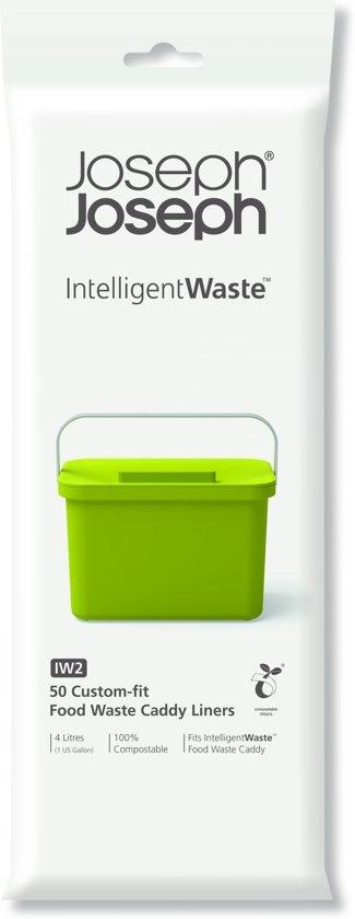 Joseph Joseph Intelligent Waste Afvalzakken Compost IW2- 4 l - Set van 50 Stuks -Wit