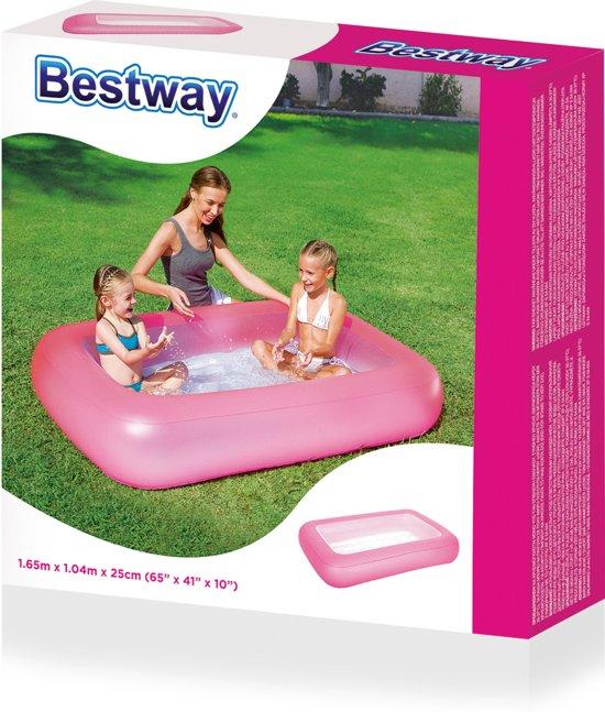 Bestway Zwembad 1-ring opblaasbare bodem 165 x 104 x 25 cm - Roze of Blauw