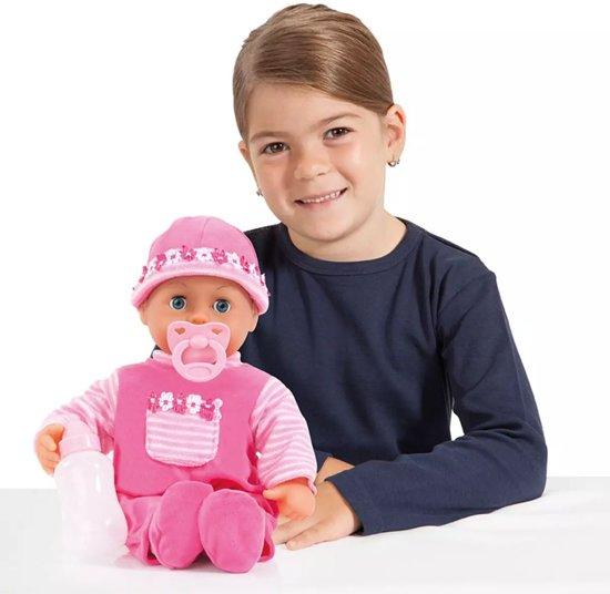 Bayer Mijn Eerste Woordjes Babypop - 38 cm - Roze