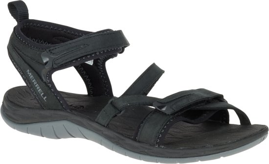 Noir Chaussures Merrell Sirène Avec Velcro Pour Les Femmes L58ldikt