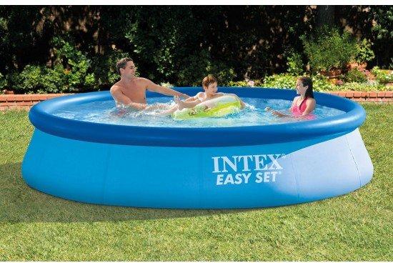 Intex Easy Set zwembad 366 x 76 cm -Zonder filterpomp (met reparatiesetje)
