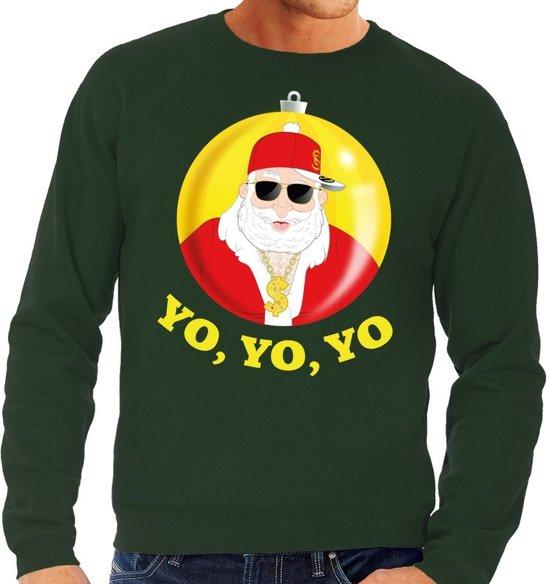 Kersttrui Heren L.Bol Com Foute Kersttrui Hip Hop Rapper Santa Groen Voor Heren L