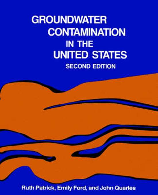 Groundwater Contamination in the United States