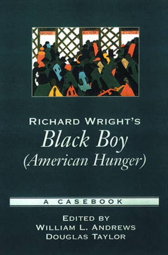 the different types of hunger in richard wrights black boy