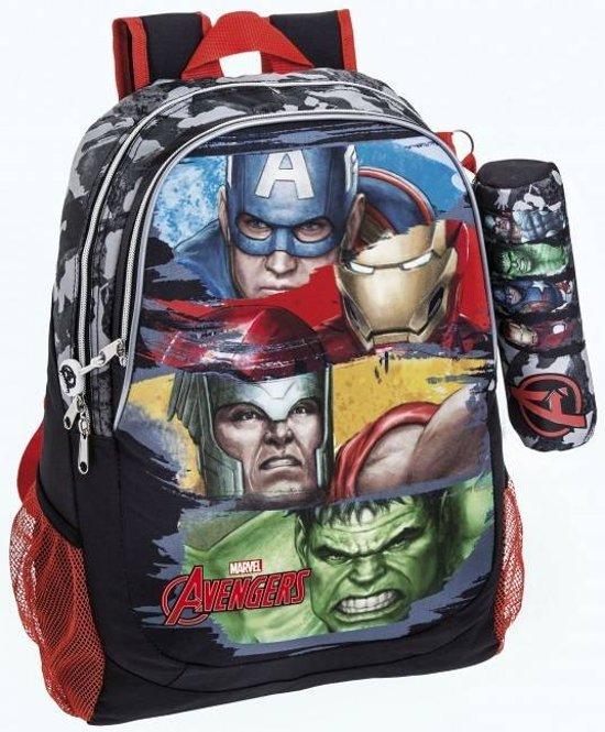 Marvel Avengers Hulk Rugzak - 44 cm - Multi - Inclusief gratis etui