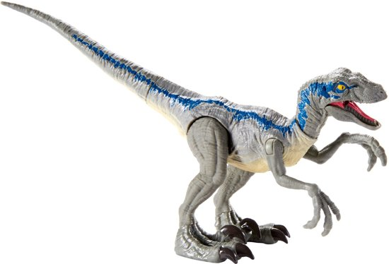 Jurassic World Savage Strike Velociraptor Blue - Speelgoeddino