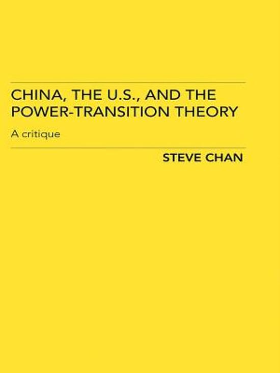 bol com | China, the US and the Power-Transition Theory
