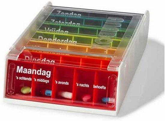 Pillendoos Met Alarm 5 Vakken.Adhome Anabox Pillendoos 1 Week 5 Compartimenten Per Dag Nederlands Verschillende Kleuren