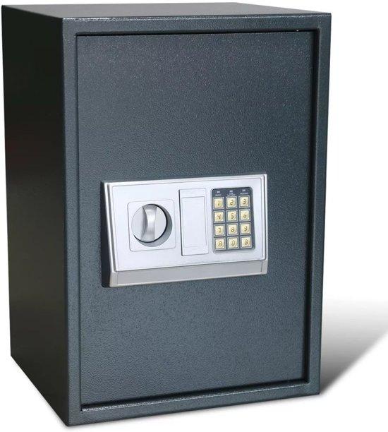 vidaXL Elektronische digitale kluis met schap 35 x 31 x 50 cm