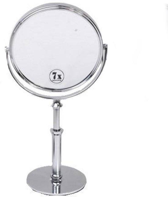 bol.com | Staande + hand Make-up spiegel zilver/7x vergroting