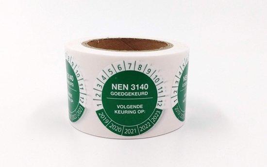 Keuringssticker - groen - NEN 3140