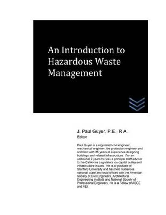 An Introduction to Hazardous Waste Management