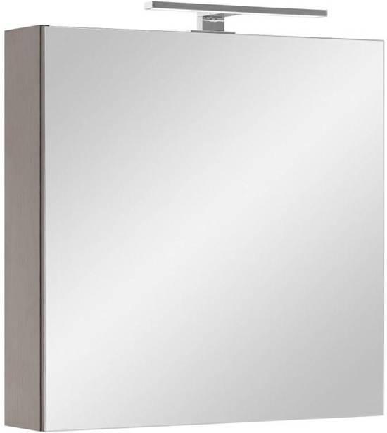 athena spiegelkast 60 cm incl led verlichting wenge decor