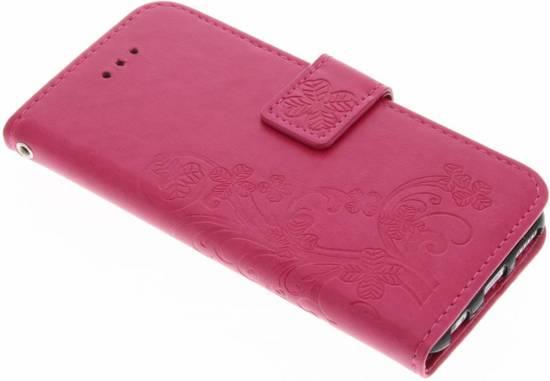 Fuchsia Fleurs De Trèfle Couverture Booktype Pour Samsung Galaxy S8 vZurhNI
