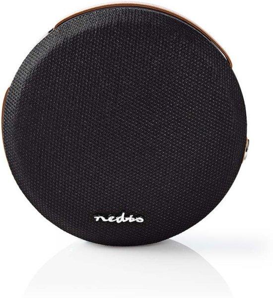 Nedis SPBT37100BK draagbare luidspreker 8 W Draadloze stereoluidspreker Zwart
