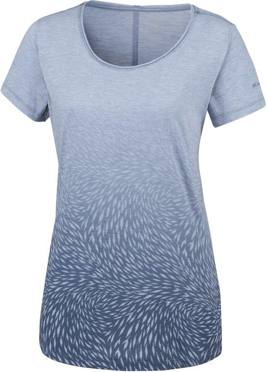 Columbia Shirt Dames Dusk Tee Fade Ocean Blue Short Sleeve RXxqrORTw