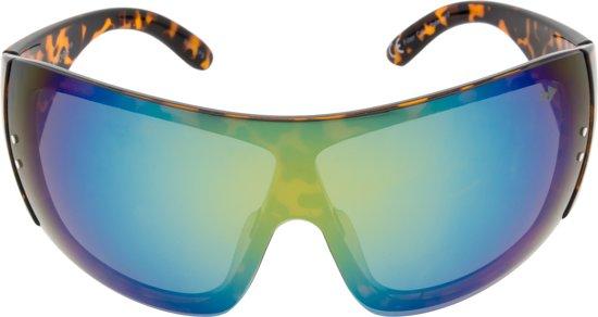 Sunheroes Premium Zonnebril SASHA - Tortoise montuur - Goud spiegelende gepolariseerde glazen