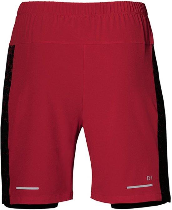 Asics 7 inch 2-in-1 hardloopshort heren rood/zwart