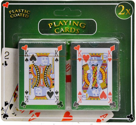 Afbeelding van Speelkaarten - Geplastificeerd - 2 Stokken speelgoed