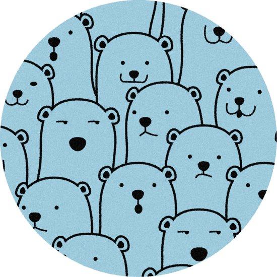 Rond Vloerkleed Kinderkamer : Bol rond kinder vloerkleed tapijt mat kinderkamer beer