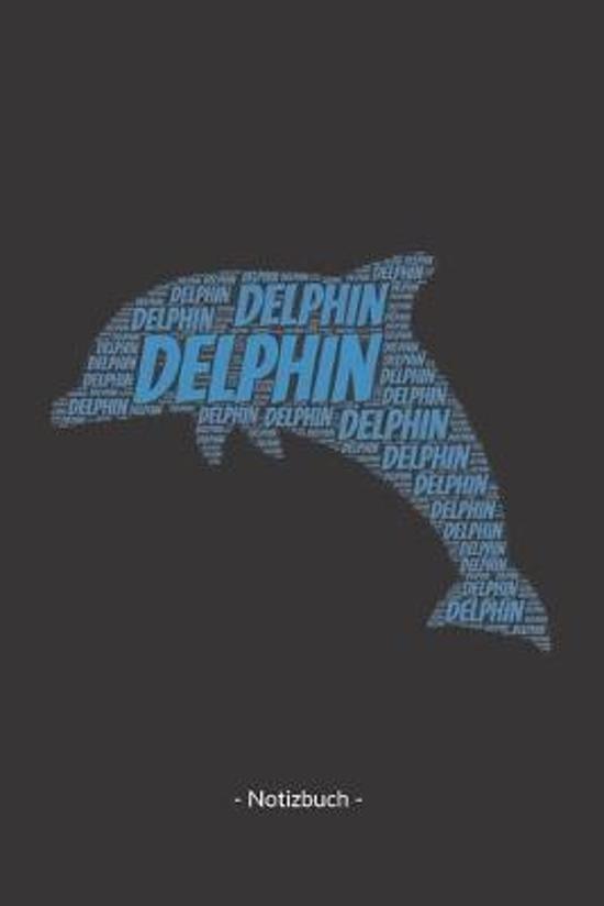 Delphin: Notizblock - Notizbuch - DIN A5, 120 Seiten - Gepunket, dotted, punktkariert, dot grid - Notizen, Termine, Planer, Tag