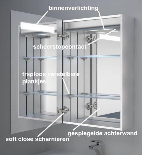 Badkamerkastje Met Verlichting : Bol toilet of badkamer kastje met verlichting en stopcontact