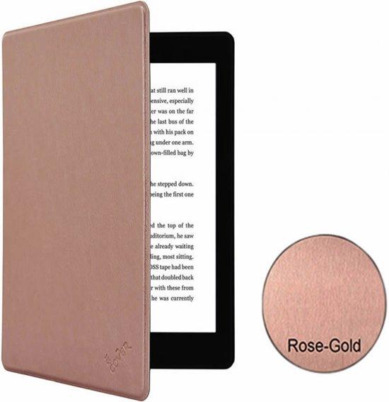 Kobo Glo HD / Kobo Touch 2.0 Hoesje Slim-fit in Rose Gold/Gouden met slaap functie, sleepcover beschermhoes, kwaliteits-case, rose goud , merk i12Cover in Middelkerke
