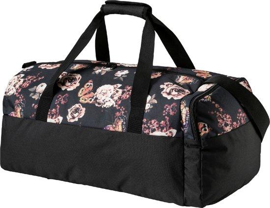 PUMA Sporttas Fundamentals Sports Bag Graphic M 74408 04 - Unisex -  Black-Flower Graphic c96ed3c0cb0cc